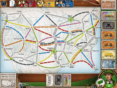 Ticket to Ride - US Map